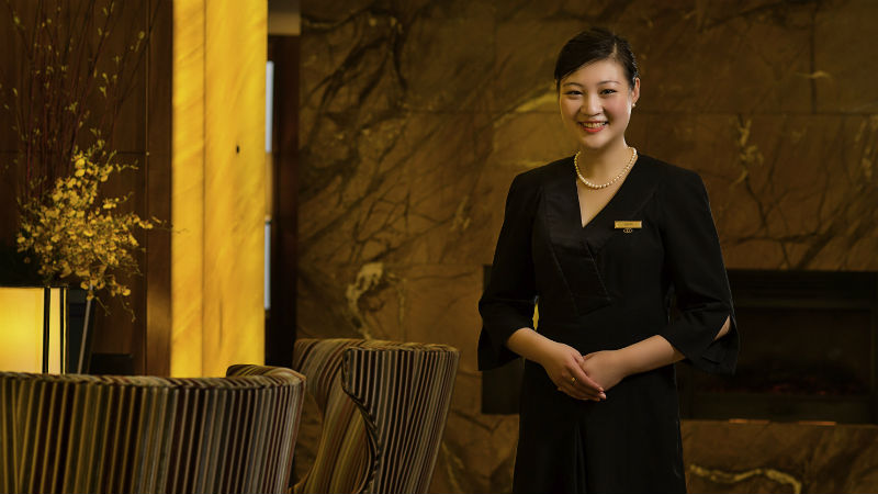 Staff member at the Sofitel Shanghai Hyland