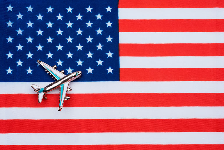 Plane on the American Flag giving the impression of American Airlines