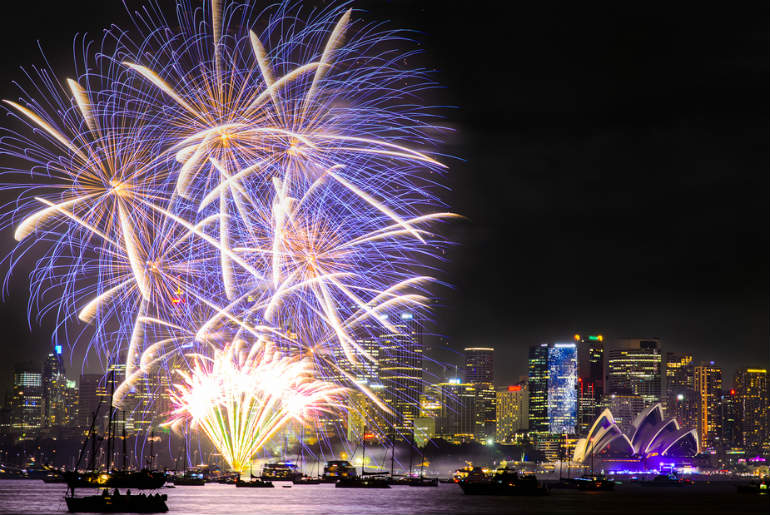 Fireworks for New Years Eve in Sydney