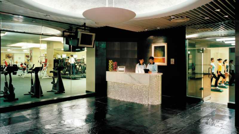 The health club at the China World Hotel