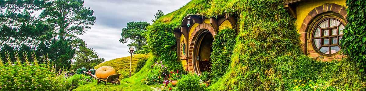 Hobbit House near Auckland in New Zealand