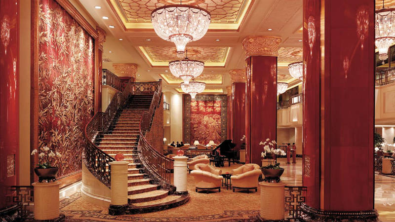 Lobby at the China World Hotel