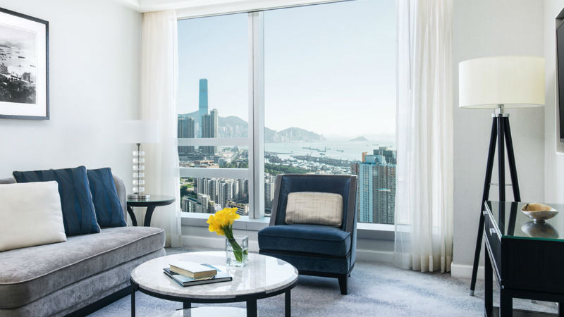 The one bedroom suite at the Cordis Hong Kong showing bedroom view