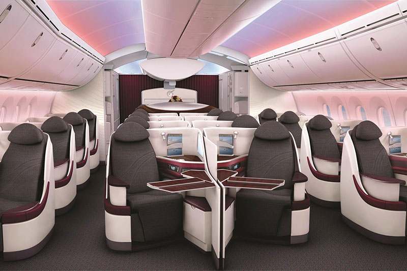 Business Class on the Qatar Airways 787 Dreamliner