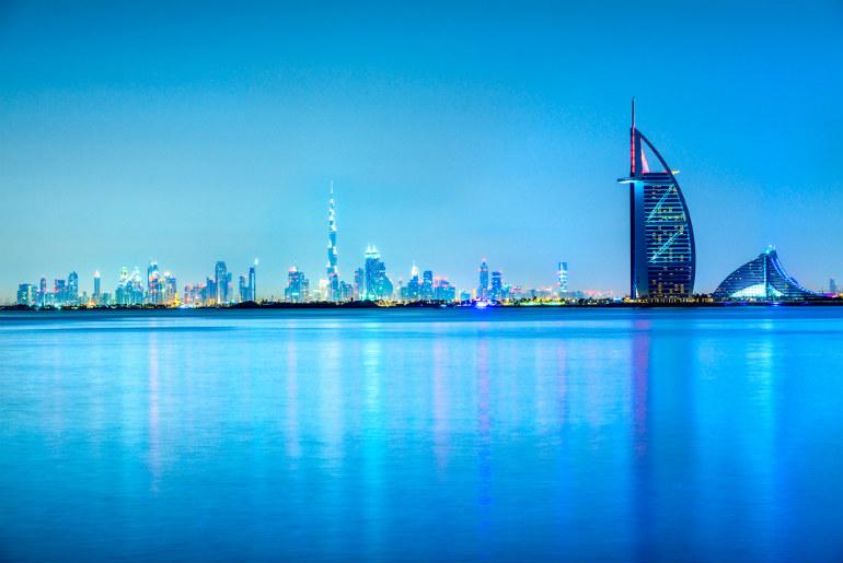View of Dubai Skyline