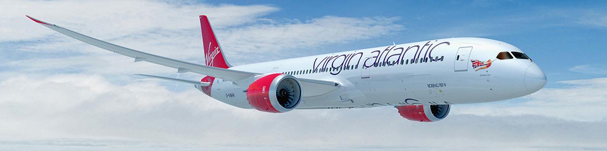 Virgin Atlantic 787 Dreamliner in flight