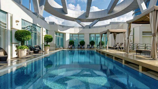 Swimming pool at the Cordis Hotel in Hong Kong