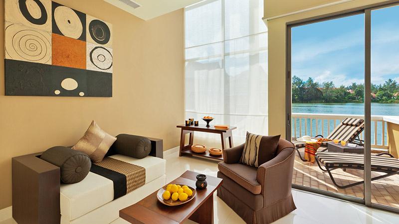 Living room of the Angsana One Bedroom Loft at Angsana Laguna Phuket