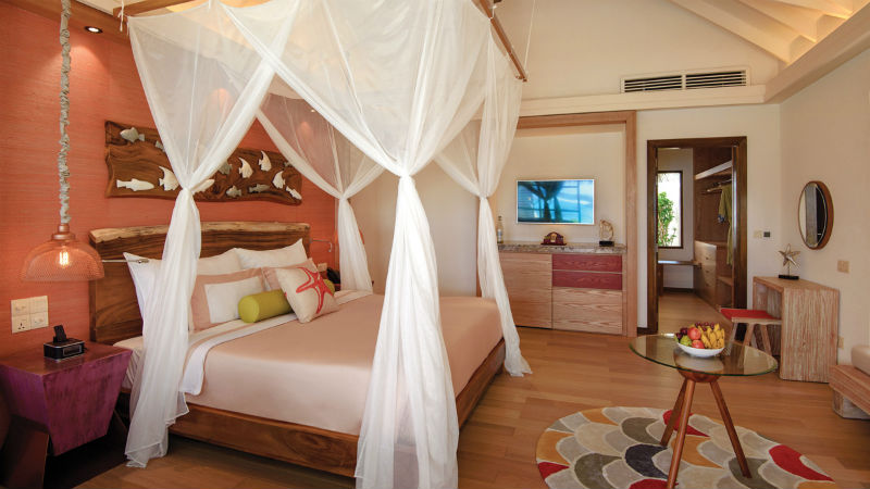 Beach Villa Bedroom Oblu Sangeli Maldives
