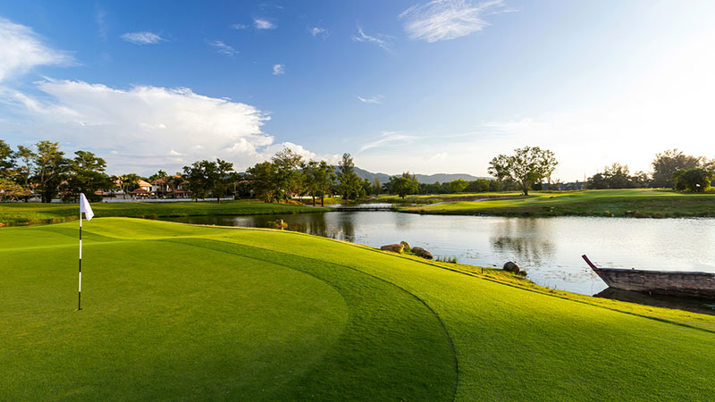 Green at the Laguna Golf Course at Angsana Laguna Phuket