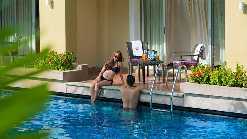 Terrace of the Laguna Poolside Room at Angsana Laguna Phuket