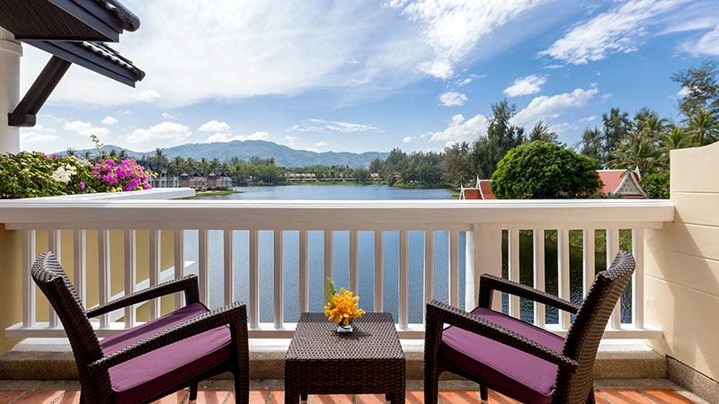 View from the balcony of the Laguna Room at Angsana Laguna Phuket