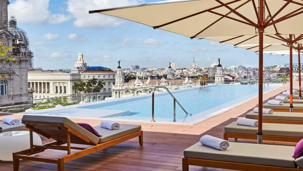 Pool Bella Habana day time at the Gran Hotel Manzana Kempinski La Habana