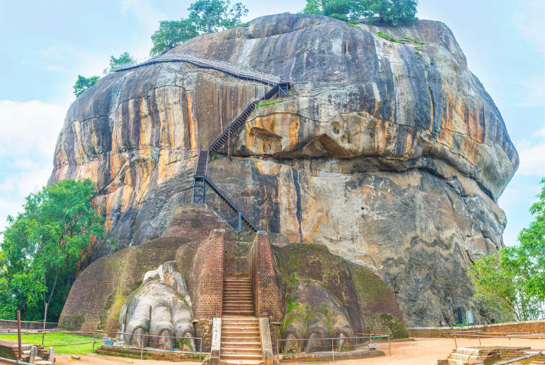 the Sigiriya stair case to the top