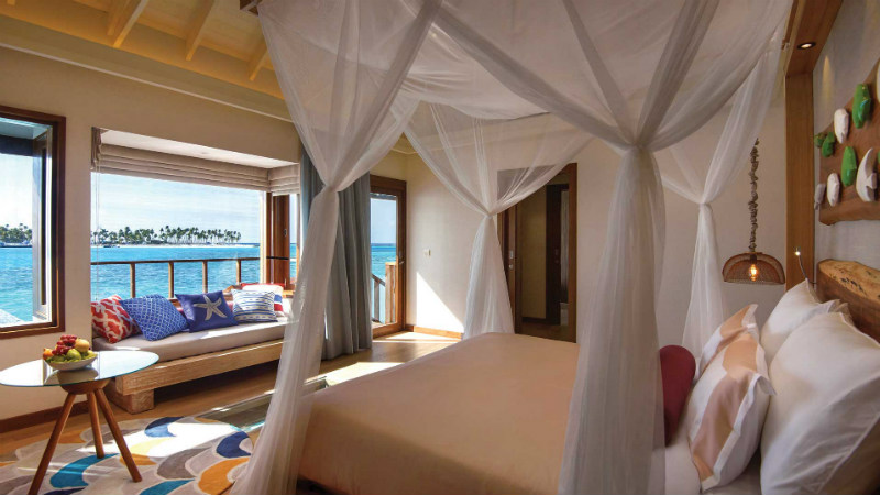 Water Villa with Pool Bedroom Oblu Sangeli Maldives