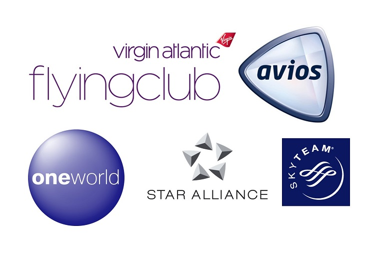 A variety of airline membership programs