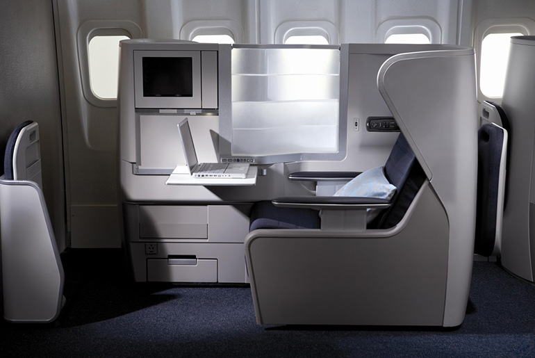British Airways Business Class cabin