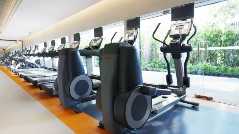 The fitness centre at Fitness Club at the Anantara Riverside Bangkok Resort