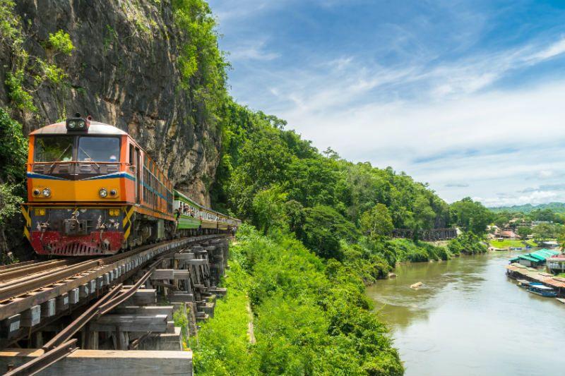 River Kwai Bridge Kanchanaburi, Thailand
