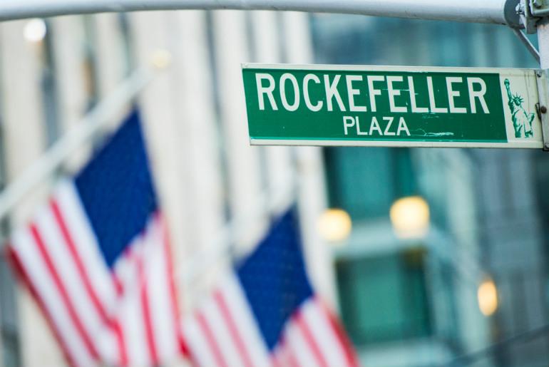 Rockefeller sign for New York