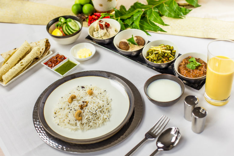 book the cook Singapore Airlines Indian food option
