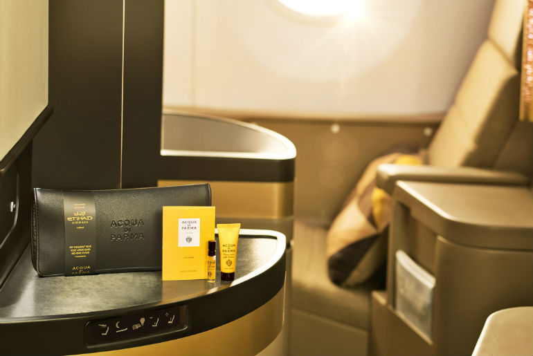 Business Class Amenity kit on Etihad