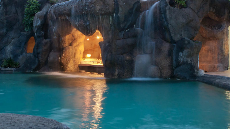The Cave Bar exterior at the Crystal Cove by Elegant Hotels