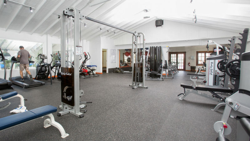 Gym equipment at St James
