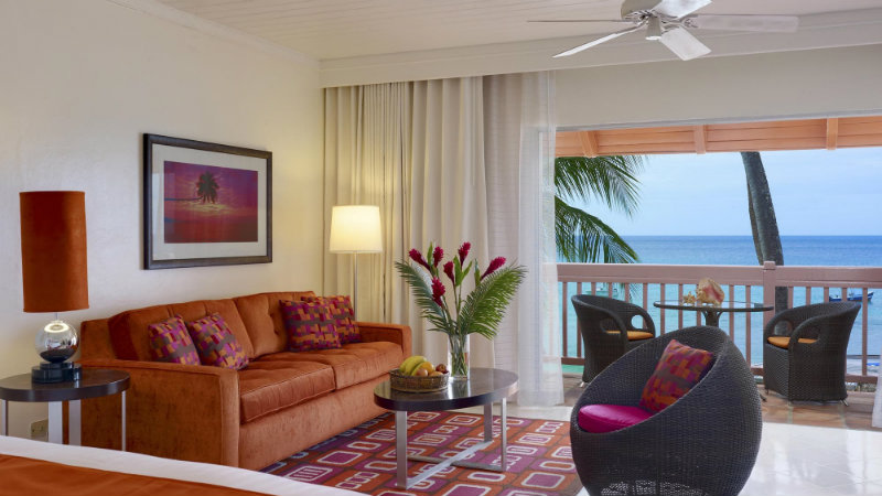 The Junior Suite Ocean View room at the Crystal Cove by Elegant Hotels