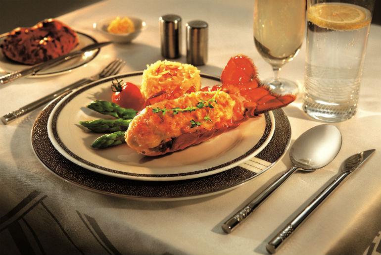 Review of the Lobster Thermidor on Singapore Airlines Book the Cook Menu in business class