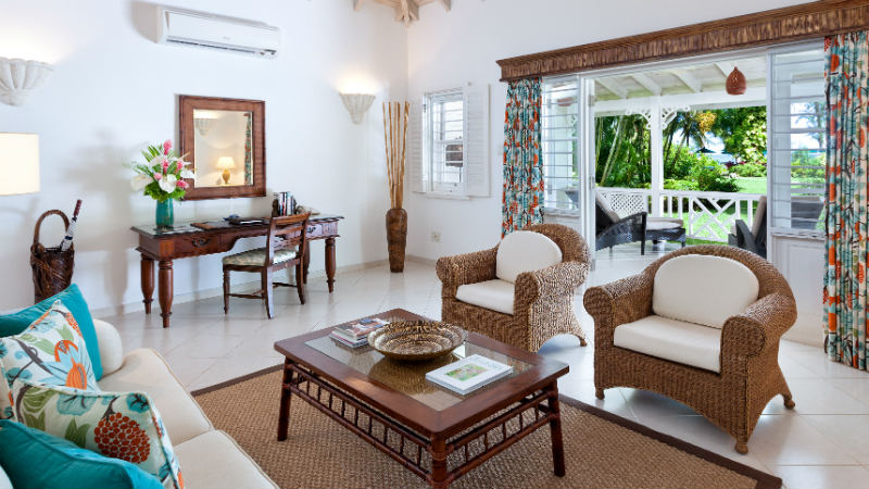 Luxury Cottage/Suite Living Room at the Coral Reef Club