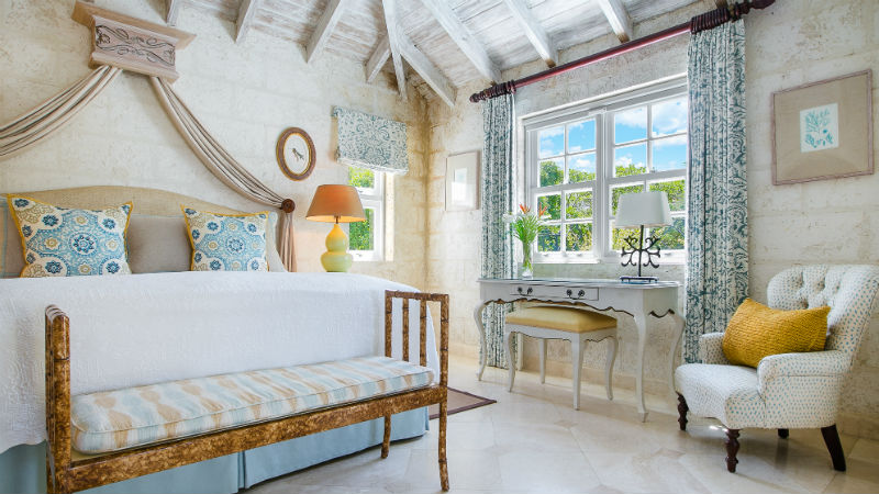 Luxury Plantation Suite master bedroom at the Coral Reef Club