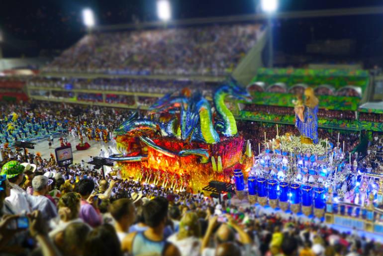 The Rio Carnival at the sambadrome