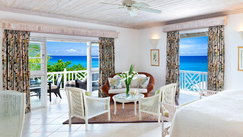 Superior or Luxury Junior Suite at the Coral Reef Club with views of the ocean