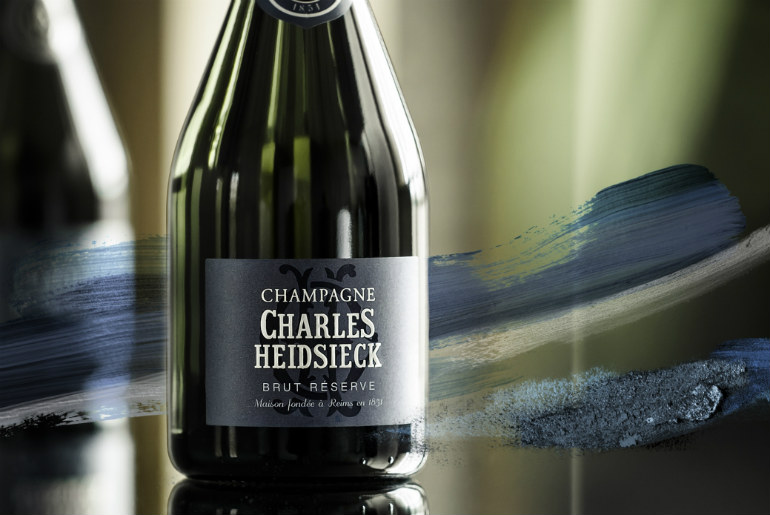 Charles Heidsieck on a Qantas business class flight