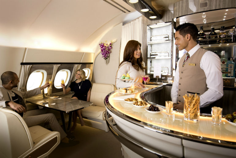 Emirates on-board bar A380