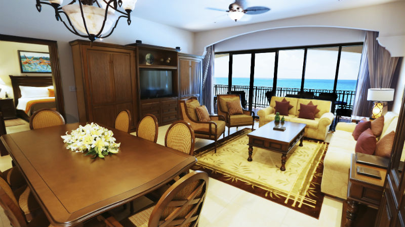 Two bedroom suite living room at the Grand Residences Riviera Cancun