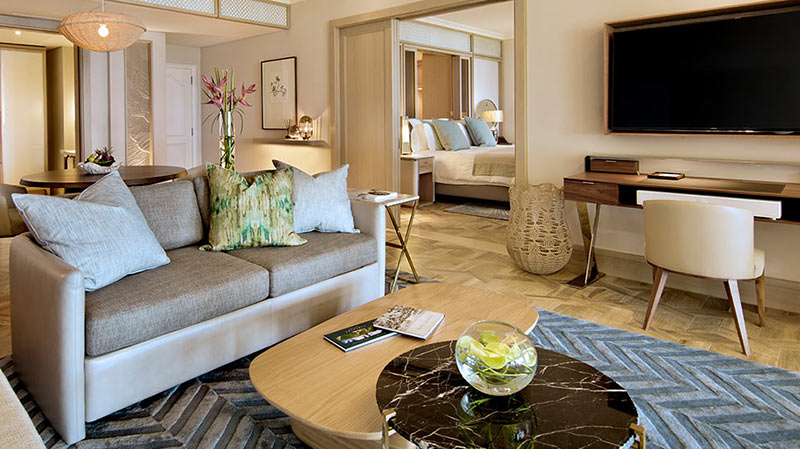 Beach Front Suite at the One & only Le Saint Geran