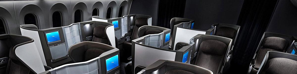 Business Class Cabin on the BA Dreamliner