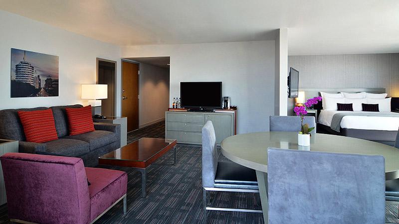 Corner King Suite at the Loews Hollywood Hotel