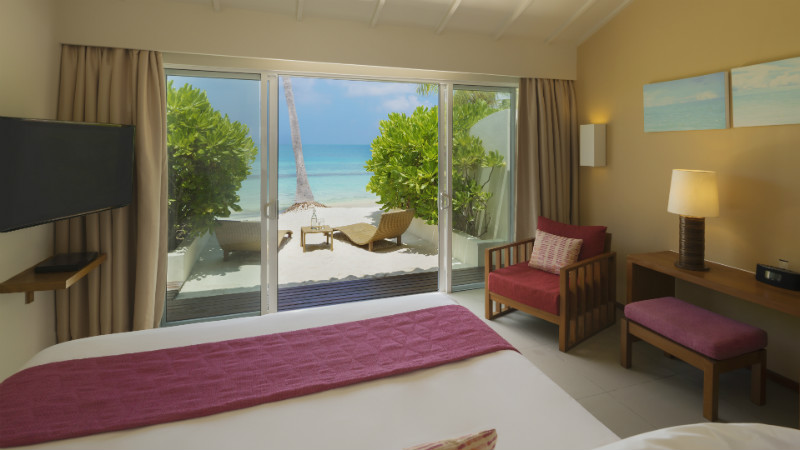Deluxe Ocean Front Beach Villa at the Centara Ras Fushi Resort and Spa Maldives
