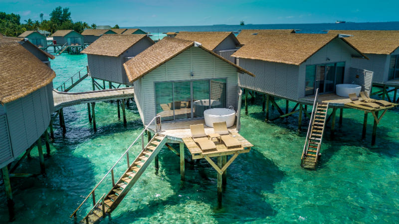 Deluxe Spa Over Water Villa at the Centara Ras Fushi Resort and Spa Maldives