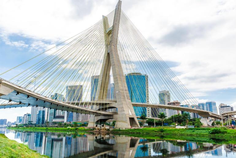 Estaiada Bridge in Sao Paulo Brazil