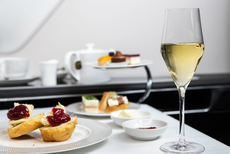 A la Carte menu onboard British Airways first class