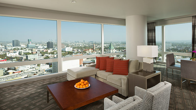 Highland Suite at the Loews Hollywood hotel