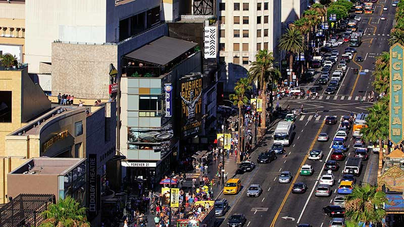 Hollywood Blvd located close to Loews Hollywood