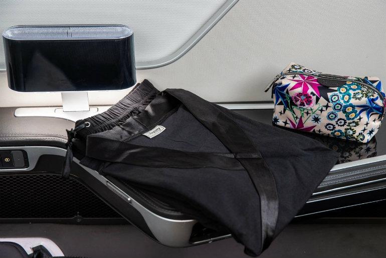 Lounge wear onboard British Airways first class