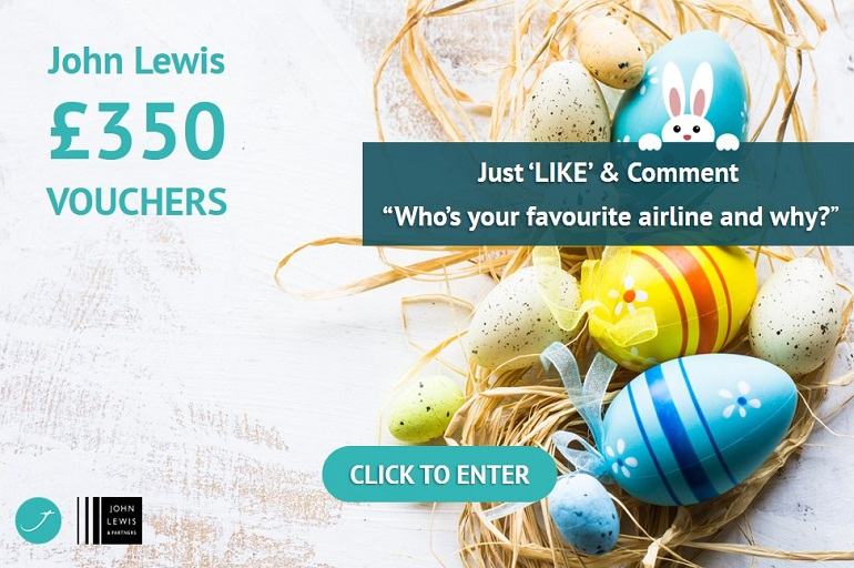justflybusiness facebook competition Easter egg and bunny