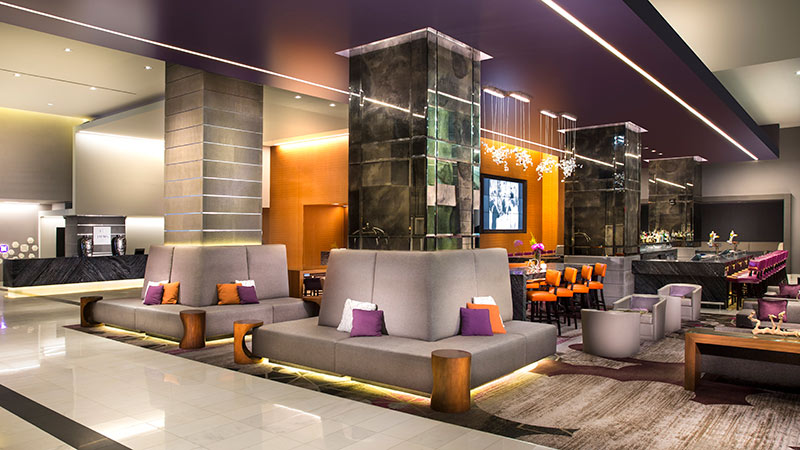 the Lobby lounge at the Loews Hollywood