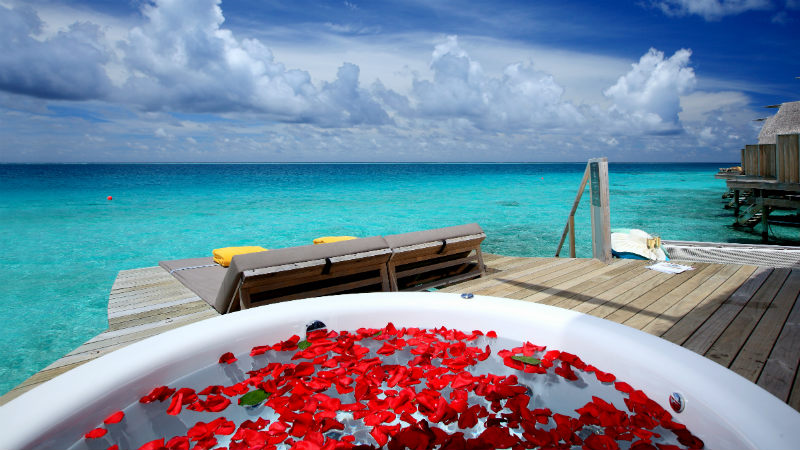 Premium Deluxe Spa Water Villa at the Centara Ras Fushi Resort and Spa Maldives
